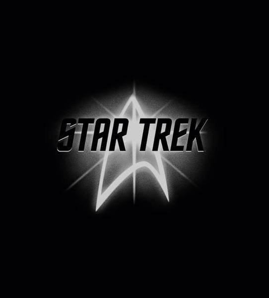 Tv Wall Art - Digital Art - Star Trek - Glow Logo by Brand A