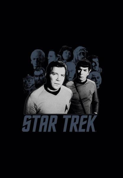 Shows Digital Art - Star Trek - Kirk Spock And Company by Brand A