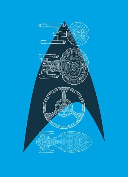 Frontier Digital Art - Star Trek - Line Of Ships by Brand A