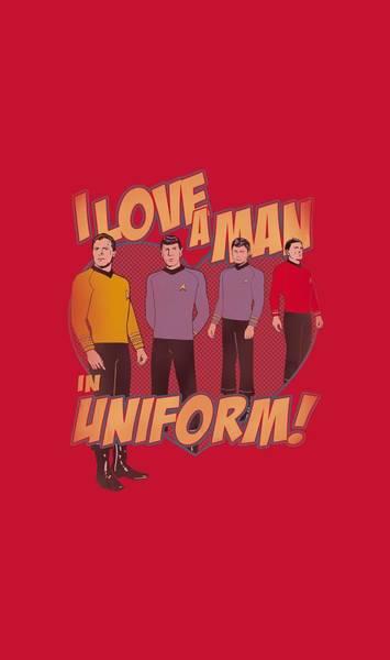 Shows Digital Art - Star Trek - Man In Uniform by Brand A