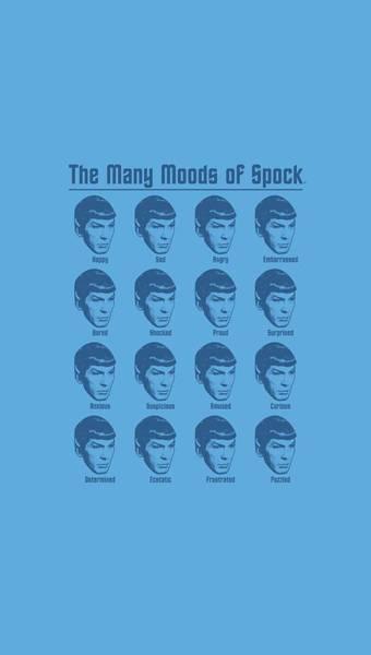 Frontier Digital Art - Star Trek - Many Moods Of Spock by Brand A