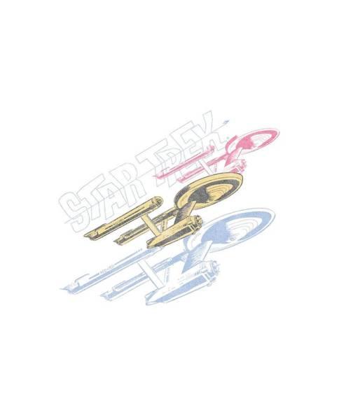 Frontier Digital Art - Star Trek - Retro Tri Enterprise by Brand A