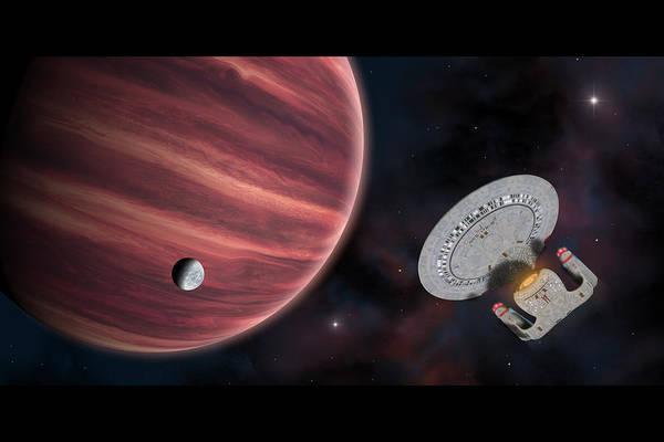 Television Program Digital Art - Star Trek The Red Planet by Ian Merton