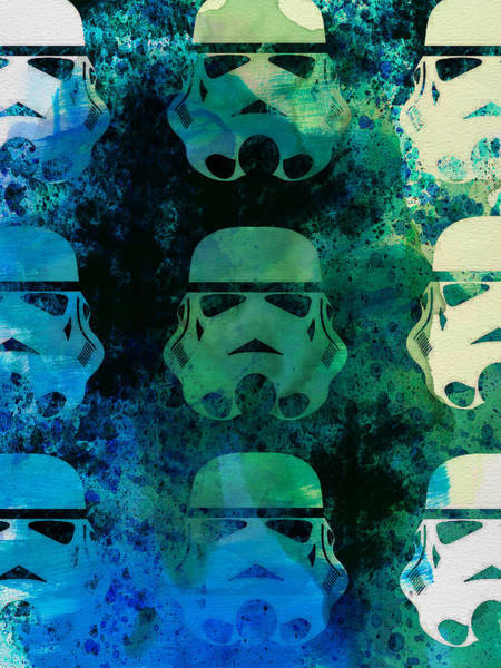 Star Wars Wall Art - Painting - Star Warriors Watercolor 1 by Naxart Studio
