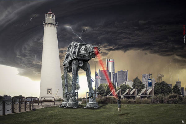 Dali Digital Art - Star Wars All Terrain Armored Transport by Nicholas  Grunas
