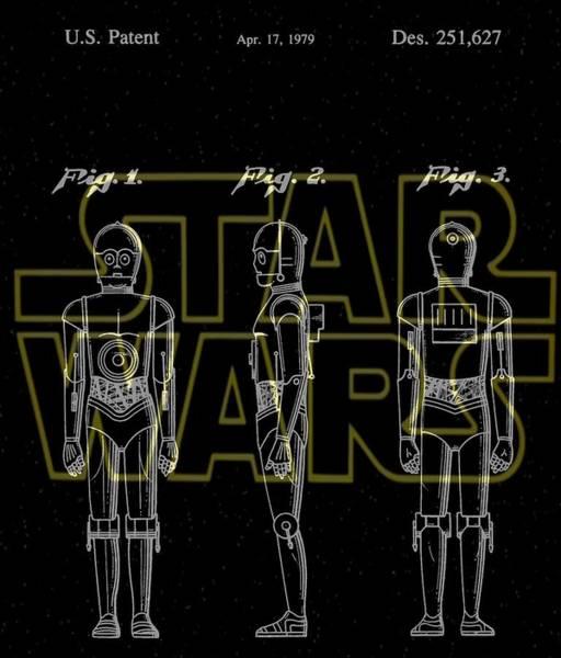 Star Wars Wall Art - Digital Art - Star Wars C-3po Patent by Dan Sproul