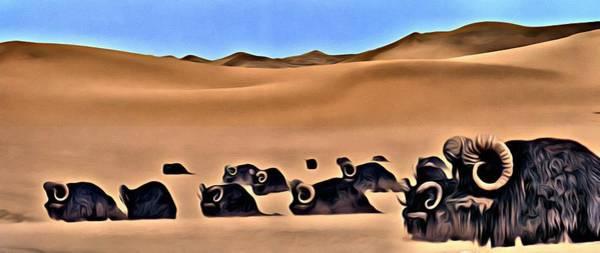 Painting - Star Wars Desert Animals by Florian Rodarte