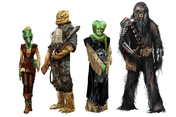 Wall Art - Digital Art - Star Wars Edge Of The Empire Species Lineup 2 by Ryan Barger