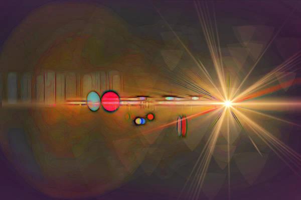 Digital Art - Starbeam by Rick Wicker