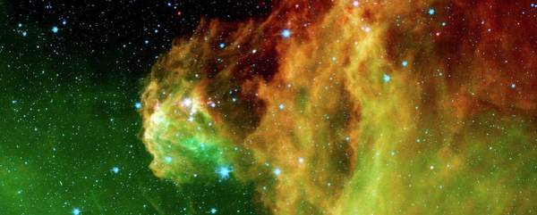 Ir Photograph - Starbirth Region In Orion by Nasa/jpl-caltech/laeff/science Photo Library