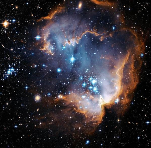 Photograph - Starbirth Region Ngc 602 by Hubble Heritage Teamnasaesastsciaura