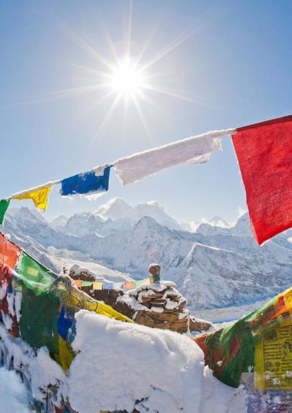 Gokyo Photograph - Starburst Over Everest by Kristin Lau