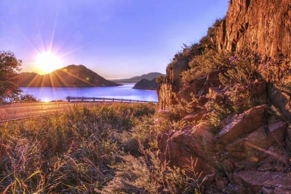 Photograph - Starburst Sunrise At The Quartz Mountains - Oklahoma by Jason Politte