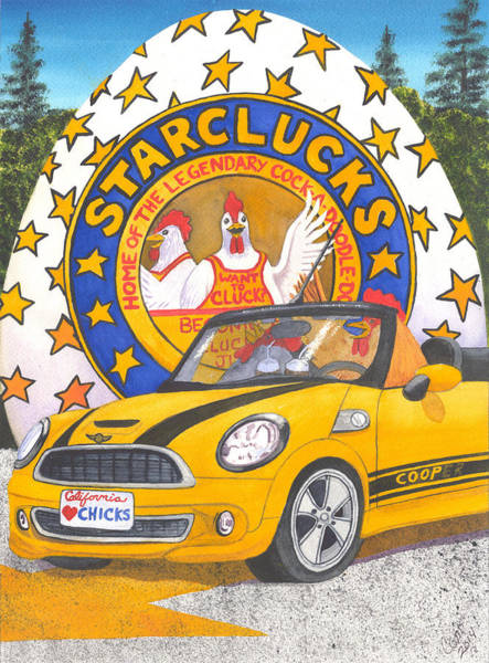 Painting - Starclucks by Catherine G McElroy