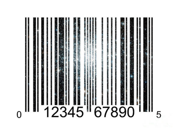 Barcode Digital Art - Stardust Barcode by Kitty Bitty