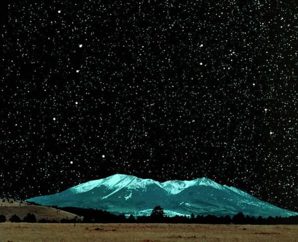 Ursa Major Photograph - Starfield Above A Mountain by Tony & Daphne Hallas/science Photo Library