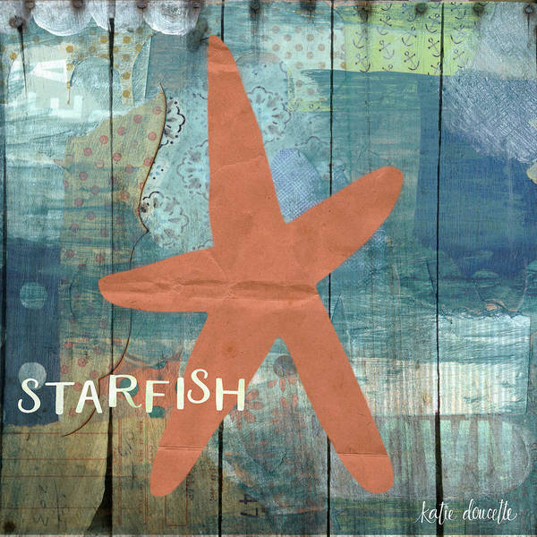 Starfish Painting - Starfish Collage by Katie Doucette