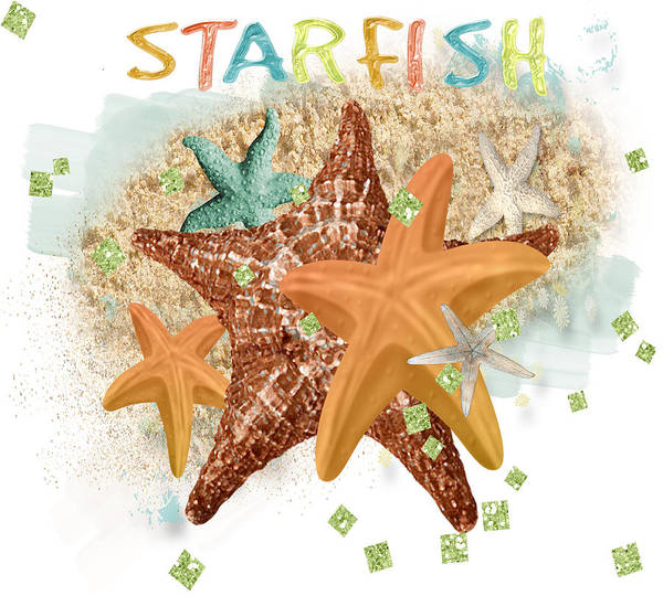 Digital Art - Starfish Dreams by Debra  Miller