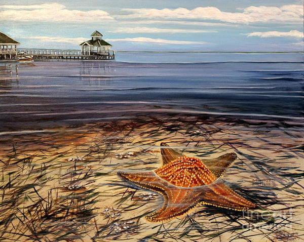 Painting - Starfish Drifting by Marilyn  McNish