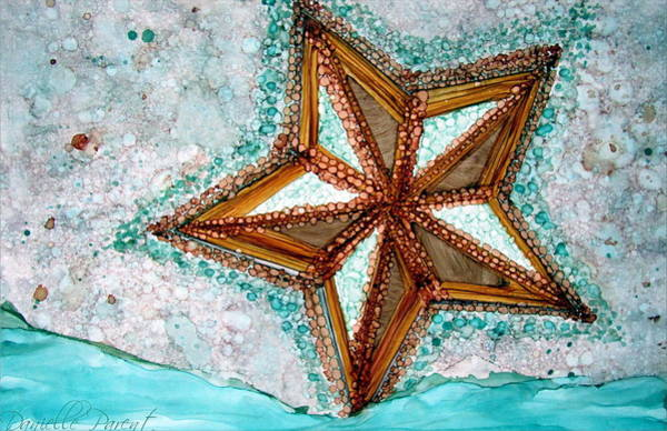 Painting - Starfish On The Beach Alcohol Inks by Danielle  Parent