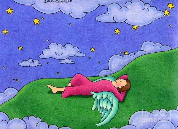 Gods Children Wall Art - Drawing - Stargazer by Sarah Batalka