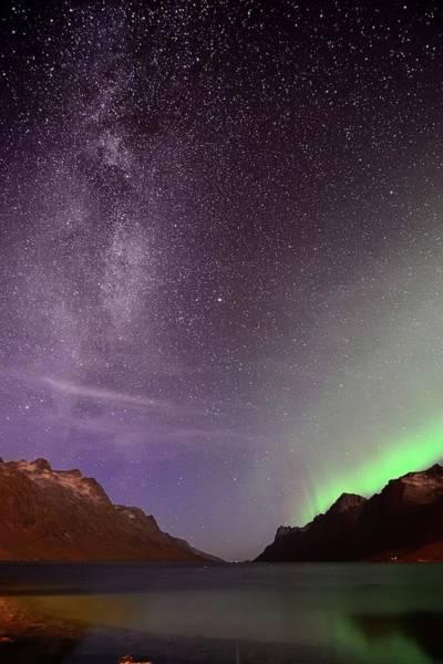 Exploration Photograph - Stargazing In Ersfjordbotn by John Hemmingsen