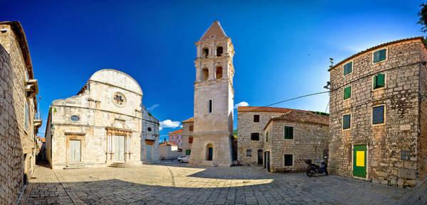 Starigrad Photograph - Stari Grad Old Stone Square by Brch Photography