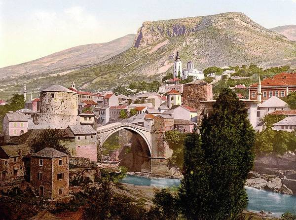 Wall Art - Photograph - Stari Most by Library Of Congress/science Photo Library