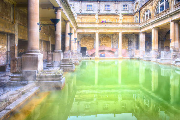 Photograph - Staring Into Antiquity At The Roman Baths - Bath England by Mark Tisdale