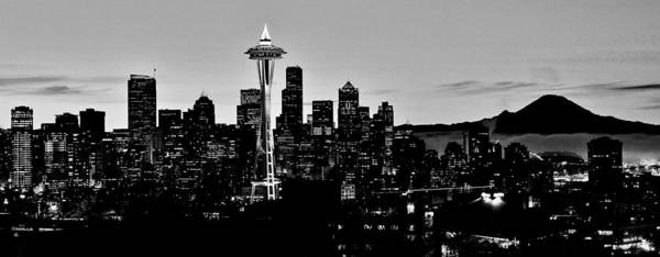 Wall Art - Photograph - Stark Seattle Skyline by Benjamin Yeager