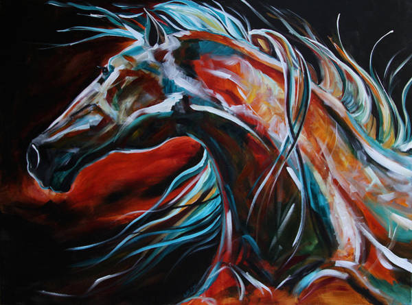 Dressage Painting - Starlight Run by Laurie Pace