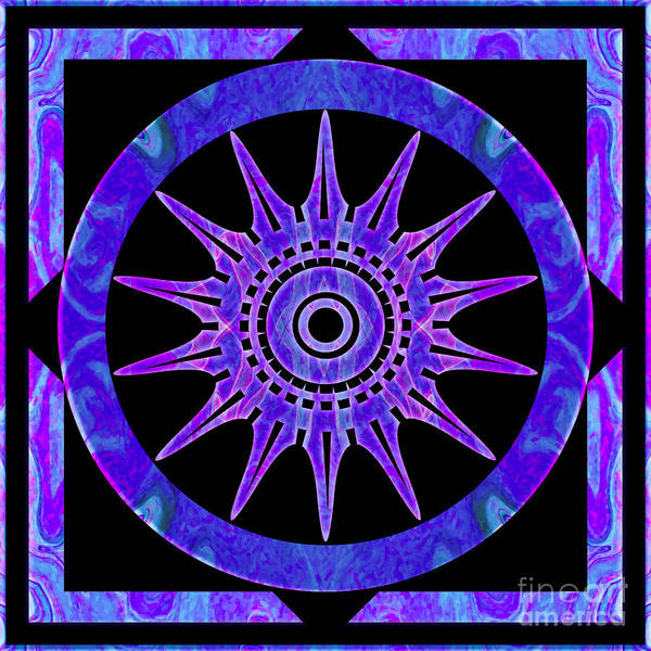 Digital Art - Starlit Purple Nights Abstract Mandala Artwork By Omaste Witkows by Omaste Witkowski