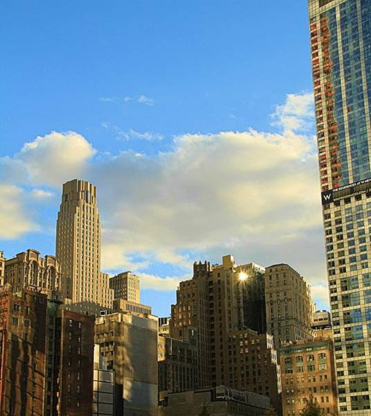 Wall Art - Photograph - Manhattan Skyline Here Comes The Sun by Dan Sproul