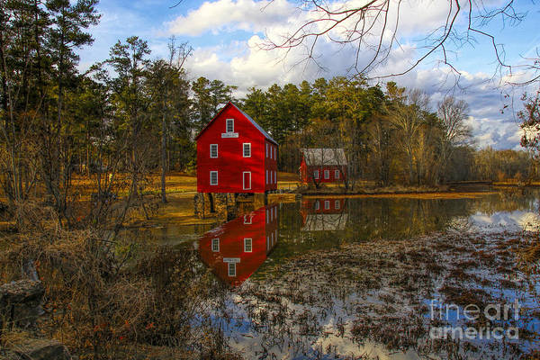 Photograph - Starrs Mill Reflection by Barbara Bowen