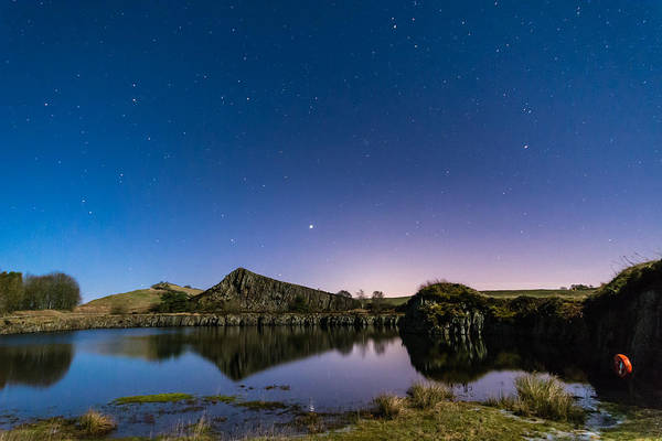 Greenhead Photograph - Starry Night At Cawfield Quarry by David Head