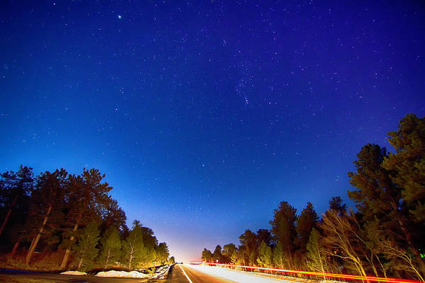 Photograph - Starry Night Into The Light by James BO Insogna