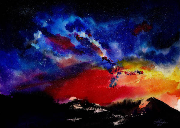 Star Cluster Painting - Starry Night by Isabel Salvador