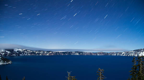 Crater Lake Np Photograph - Starry Night Over Crater Lake by Kunal Mehra