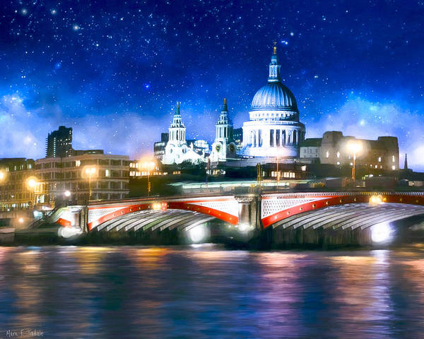 Photograph - Starry Night Over The Thames by Mark Tisdale