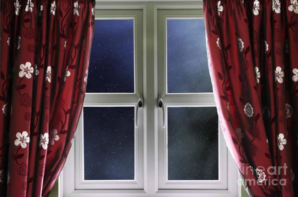 Window Dressing Wall Art - Photograph - Starry Night Sky Through A Window by Simon Bratt Photography LRPS