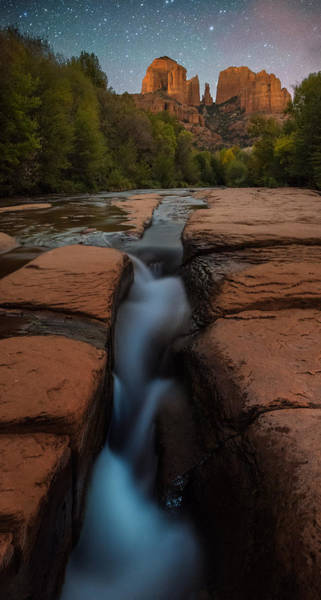 Box Canyon Wall Art - Photograph - Starry Night Sluice Box Photography At Red Rock Crossing by Mike Berenson