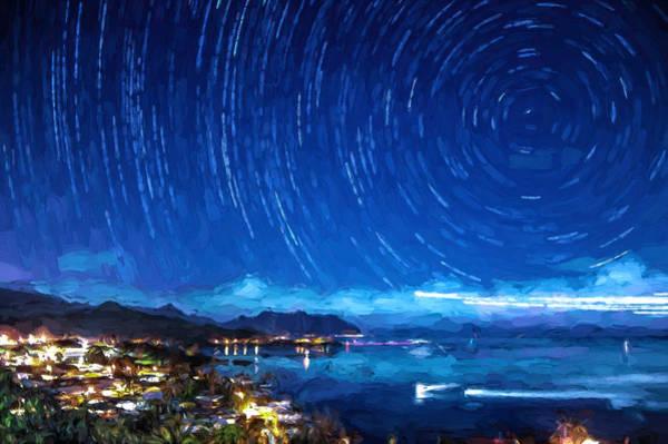 Photograph - Starry Nighttrails by Dan McManus
