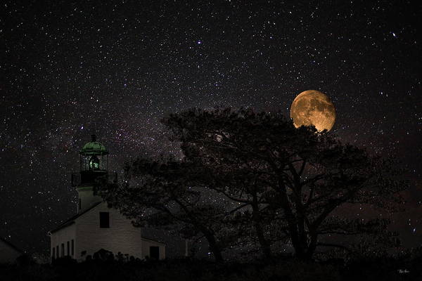 Wall Art - Photograph - Starry Starry Night At Point Loma Lighthouse by Russ Harris