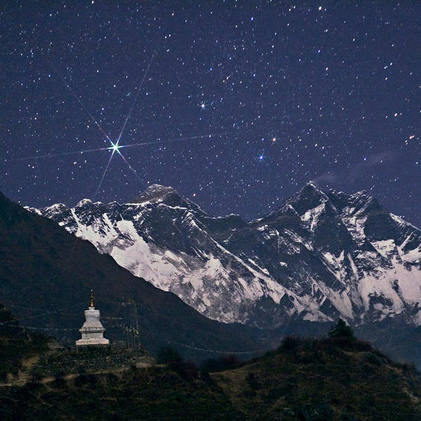 Wall Art - Photograph - Stars Above Mount Everest by Babak Tafreshi/science Photo Library
