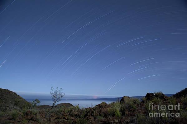 Photograph - Stars And Moonlight On Mauna Kea by Charmian Vistaunet
