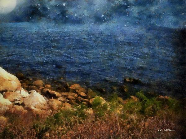 Painting - Stars Falling Into The Sea by RC deWinter