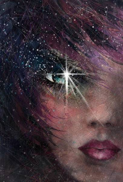 Magical Drawing - Stars In Her Eyes by Rachel Christine Nowicki