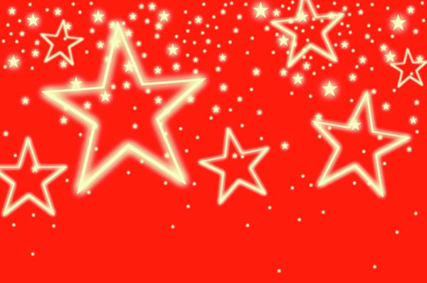 Backgrounds Photograph - Stars On Red Background, Studio Shot by Tetra Images