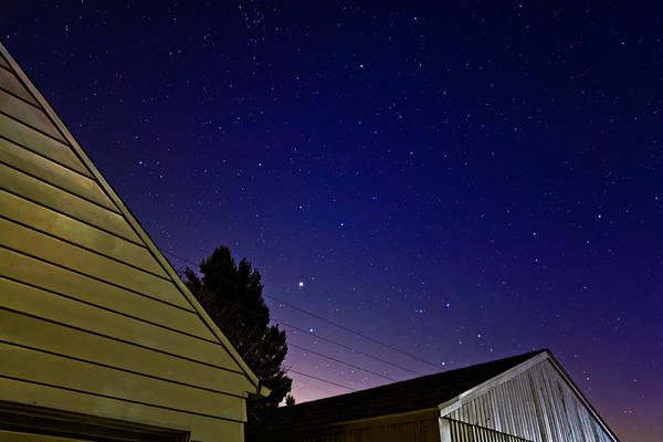 Photograph - Stars Over Garage by Lars Lentz