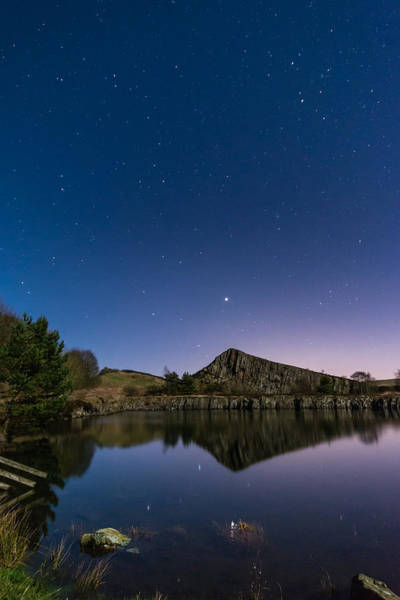 Greenhead Photograph - Stars Reflect In Cawfield Quarry by David Head